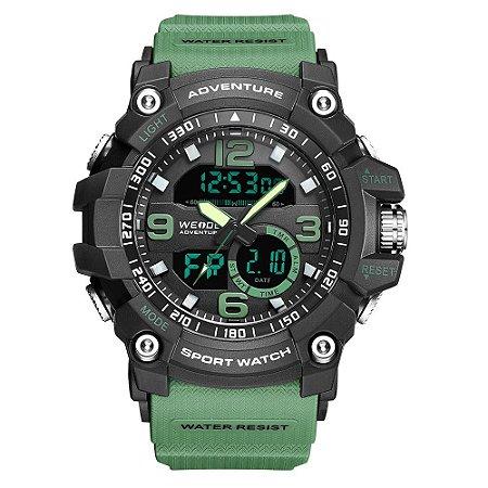 Relógio Masculino Weide AnaDigi WA3J8001 - Verde e Preto
