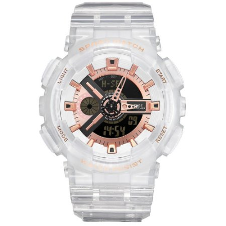 Relógio Masculino Weide AnaDigi WA3J8004 - Branco e Rosê