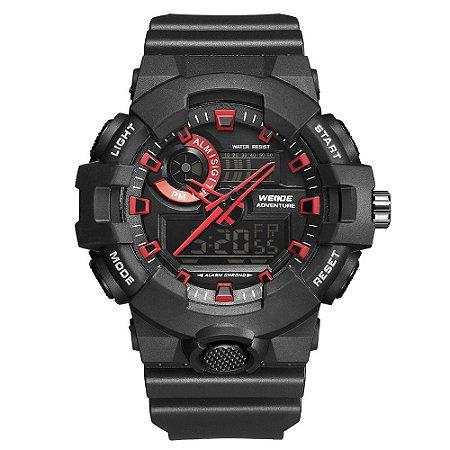 Relógio Masculino Weide AnaDigi WA3J8007 - Preto e Vermelho