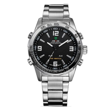 Relógio Masculino Weide AnaDigi WH-1009 - Prata e Preto