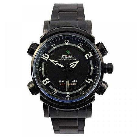 Relógio Masculino Weide AnaDigi WH-1101 - Preto e Azul