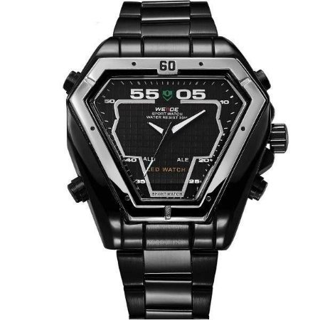Relógio Masculino Weide AnaDigi WH-1102 - Preto