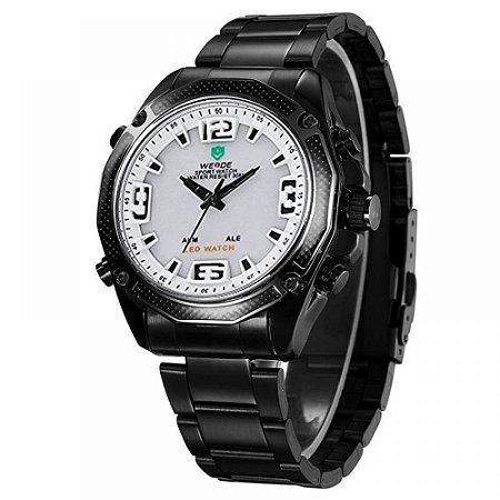 Relógio Masculino Weide AnaDigi WH-2306 - Preto e Branco