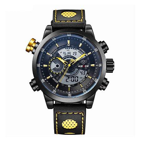 Relógio Masculino Weide AnaDigi WH-3401-C - Preto e Amarelo