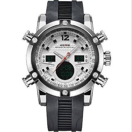 Relógio Masculino Weide AnaDigi WH-5205 - Preto e Branco