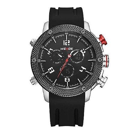 Relógio Masculino Weide AnaDigi WH-5206 - Preto e Vermelho