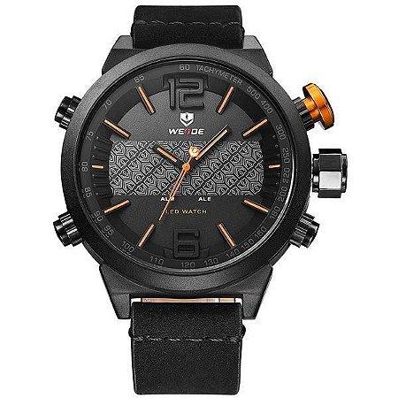 Relógio Masculino Weide AnaDigi WH-6101 - Preto e Laranja