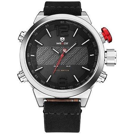 Relógio Masculino Weide AnaDigi WH-6101 - Preto e Prata