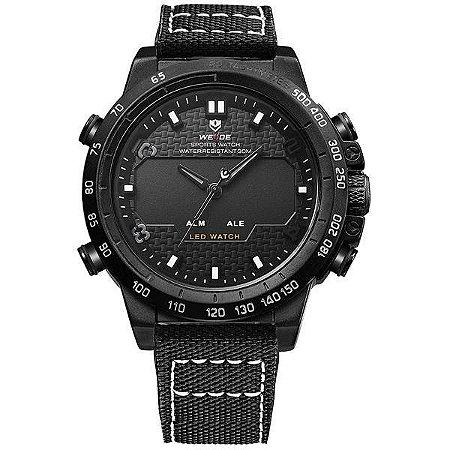 Relógio Masculino Weide AnaDigi WH-6102 - Preto e Branco