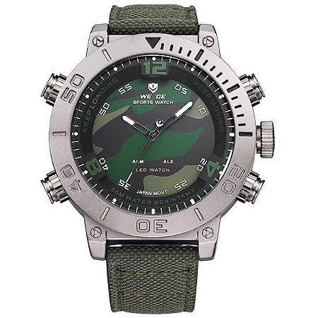 Relógio Masculino Weide Anadigi WH-6103 Verde
