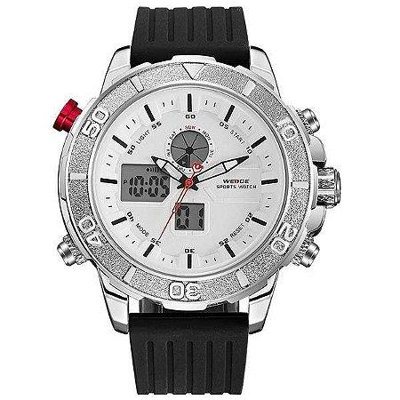 Relógio Masculino Weide AnaDigi WH-6108 - Preto e Branco