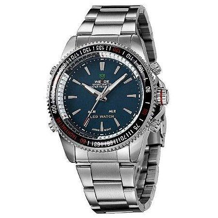 Relógio Masculino Weide AnaDigi WH-903 - Prata e Verde