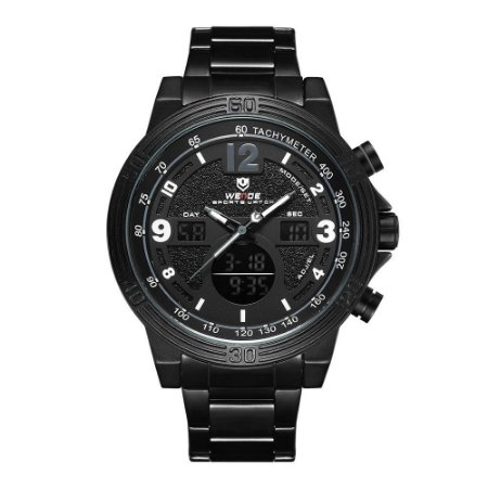 Relógio Masculino Weide AnaDigi WH6908 - Preto