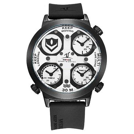Relógio Masculino Weide Analógico UV-1503 - Preto e Branco