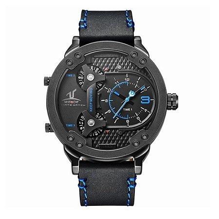 Relógio Masculino Weide Analógico UV-1506 - Preto e Azul