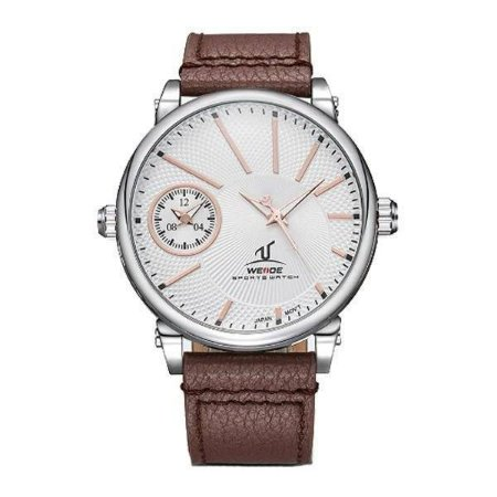 Relógio Masculino Weide Analógico UV-1508 - Marrom, Prata e Branco