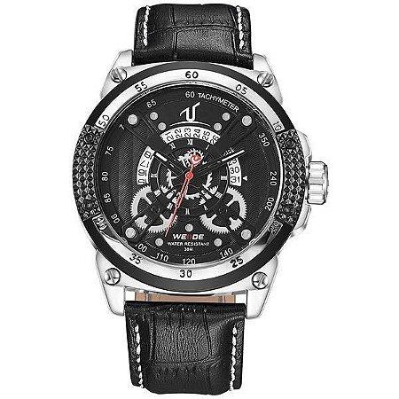 Relógio Masculino Weide Analógico UV-1605 - Preto e Prata