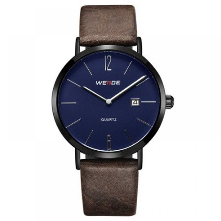 Relógio Masculino Weide Analógico WD007 - Marrom, Preto e Azul