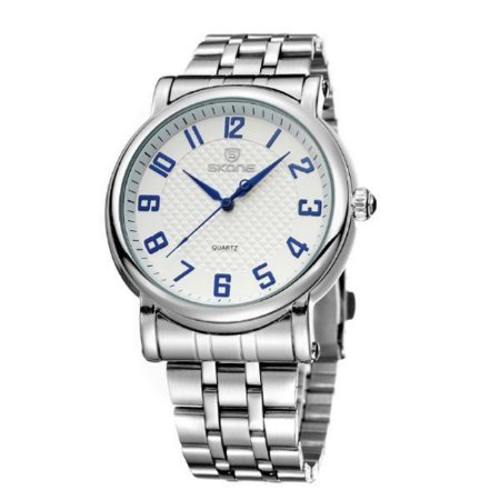 Relógio Masculino Skone Analógico 7214G Branco-