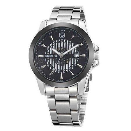 Relógio Masculino Skone Analógico 7232BG Preto-