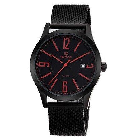 Relógio Masculino Skone Analógico 7347BG Vermelho-
