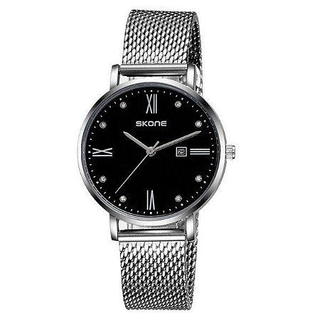 Relógio Masculino Skone Analógico 7392BL Preto-