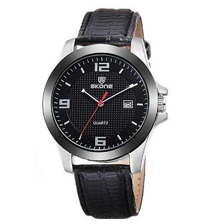 Relógio Masculino Skone Analógico 9180BR Preto-