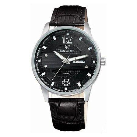 Relógio Masculino Skone Analógico 9275AG Preto-