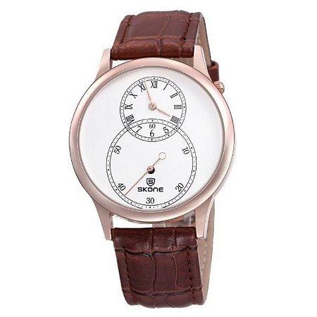 Relógio Masculino Skone Analógico 9295EG Marrom-