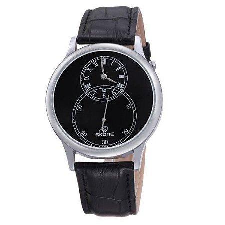 Relógio Masculino Skone Analógico 9295EG Preto-