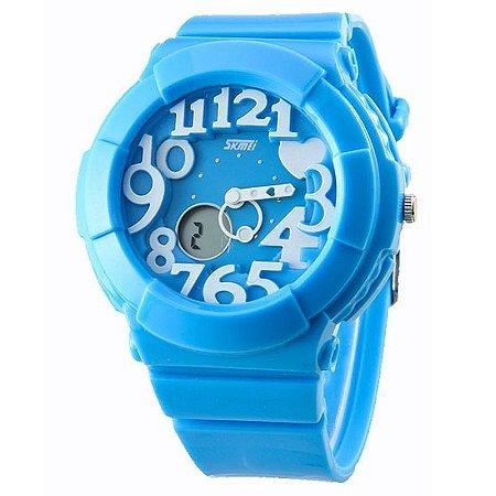 Relógio Feminino Skmei Anadigi 1020 Azul-
