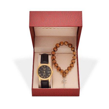 Relógio Feminino Skmei Analógico 9058 - Pulseira - Preto e Dourado