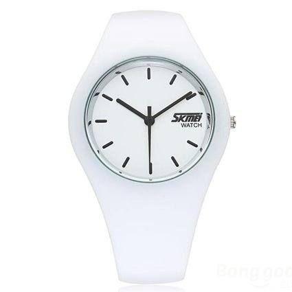 Relógio Feminino Skmei Analógico 9068 - Branco e Preto