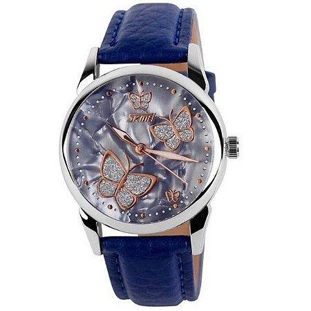 Relógio Feminino Skmei Analógico 9079 Azul