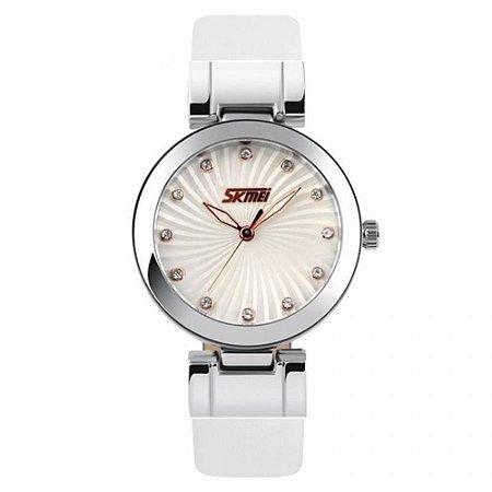 Relógio Feminino Skmei Analógico 9086 Branco