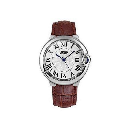 Relógio Feminino Skmei Analógico 9088 Marrom-