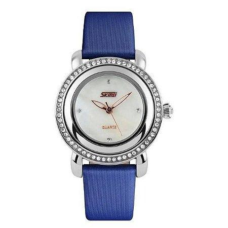 Relógio Feminino Skmei Analógico 9093 Azul