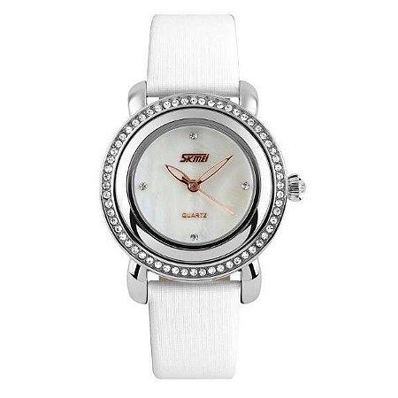 Relógio Feminino Skmei Analógico 9093 Branco