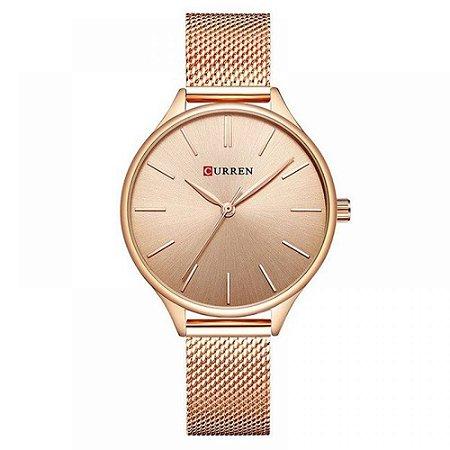 Relógio Feminino Curren Analógico C9024L - Rose