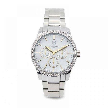 Relógio Feminino Tuguir Analógico 5028 - Prata