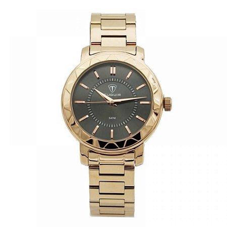 Relógio Feminino Tuguir Analógico 5439L Rose e Preto
