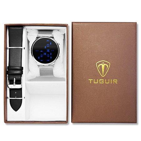 Relógio Feminino Tuguir Digital TG102 - Prata e Preto