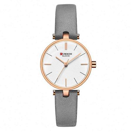 Relógio Feminino Curren Analógico C9038L - Rose e Cinza