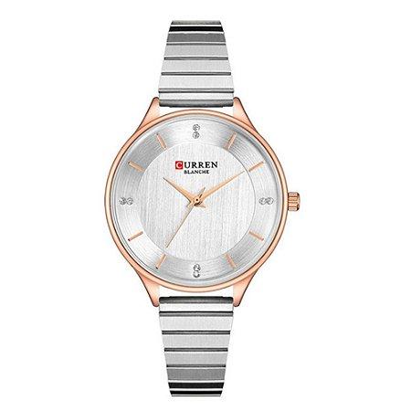 Relógio Feminino Curren Analógico C9041L - Prata