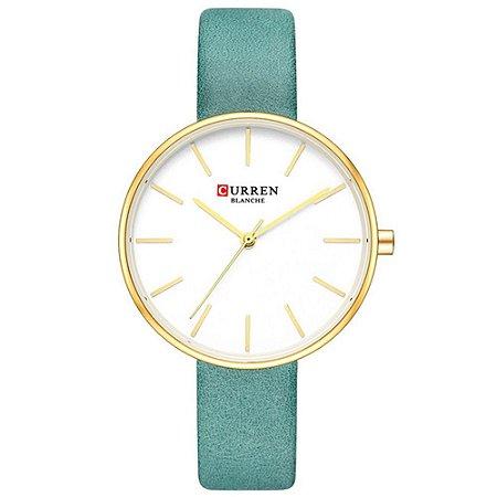 Relógio Feminino Curren Analógico C9042L - Dourado e Verde