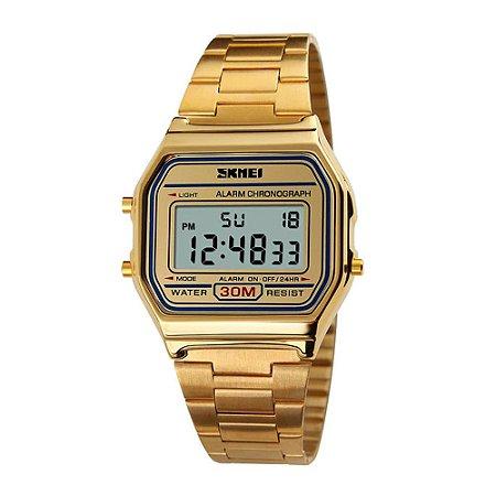 Relógio Feminino Skmei Digital 1123 - Dourado-
