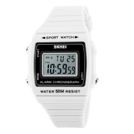 Relógio Feminino Skmei Digital 1136 Branco-