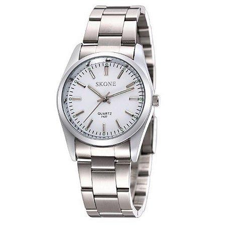 Relógio Feminino Skone Analógico 7127 Branco-