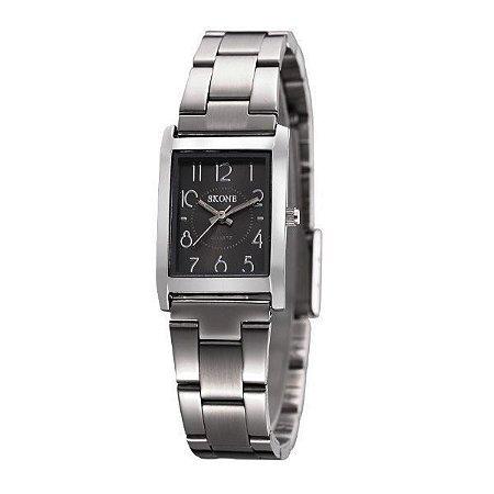 Relógio Feminino Skone Analógico 7158L  Preto-