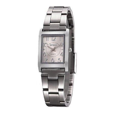 Relógio Feminino Skone Analógico 7158L Prata-